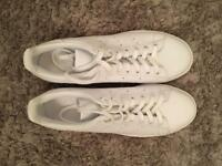 Adidas Stan smith rare all white trainers size 10 brand new