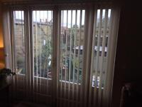 Beige vertical blinds