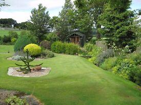 Stunning 5 bed bungal./3 public rooms/garage/gym/summerhouse/deck/stream/edge of rural hamlet, BANFF