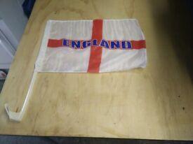 100 X ENGLAND CAR FLAGS