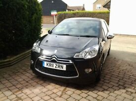 Citroen DS3 DSport Plus 1.6HDi 110ps 3dr - Black with black roof
