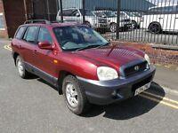 2004 Hyundai Santa Fe 2.0 CRTD CDX Station Wagon 5dr SUV, Warranty & Breakdown Available, £1,595