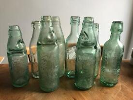 Collection Of 8 Old Local Victorian/Edwardian Bottles *display/props*