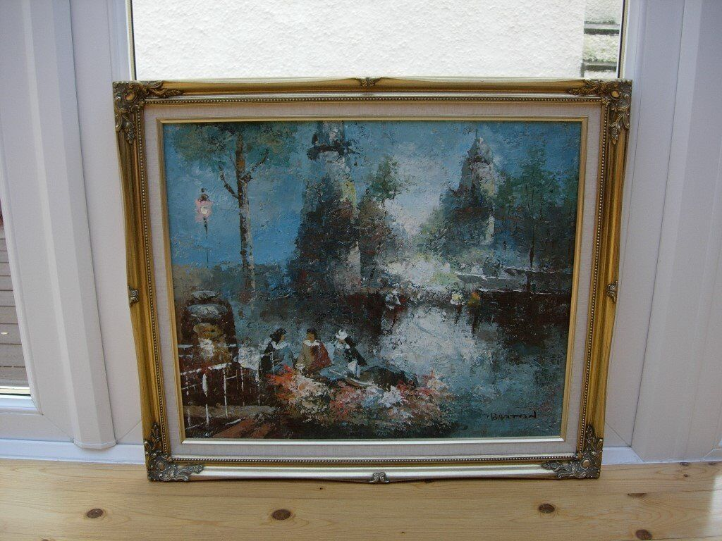 Oil Painting with ornate frame