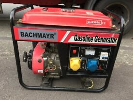 BACHMAYR CLX3850 2.5KW 4 STROKE PETROL GENERATOR, RECENTLY SERVICED