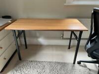 Foldable desk - spring loaded