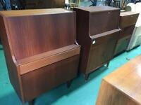 Two vintage bureaus writing desks storage retro