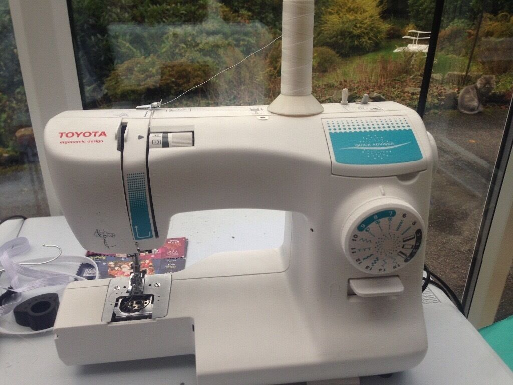 Toyota Sewing Machinein Hebden Bridge, West YorkshireGumtree - Toyota Sewing Machine looking for a new owner. Excellent condition . Only changing because Ive upgraded to an industrial one. This modern, lightweight but strong Toyota Sewing Machine is provided with a 15 year guarantee, giving you total piece of...