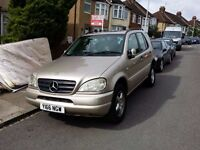 MERCEDES BENZ ML270 CDI 7 SEATER FULL SERVICE HISTORY MINT CONDITION AND AWD TOP END MODEL