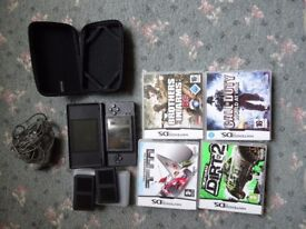 Nintendo DS Lite and 4 games
