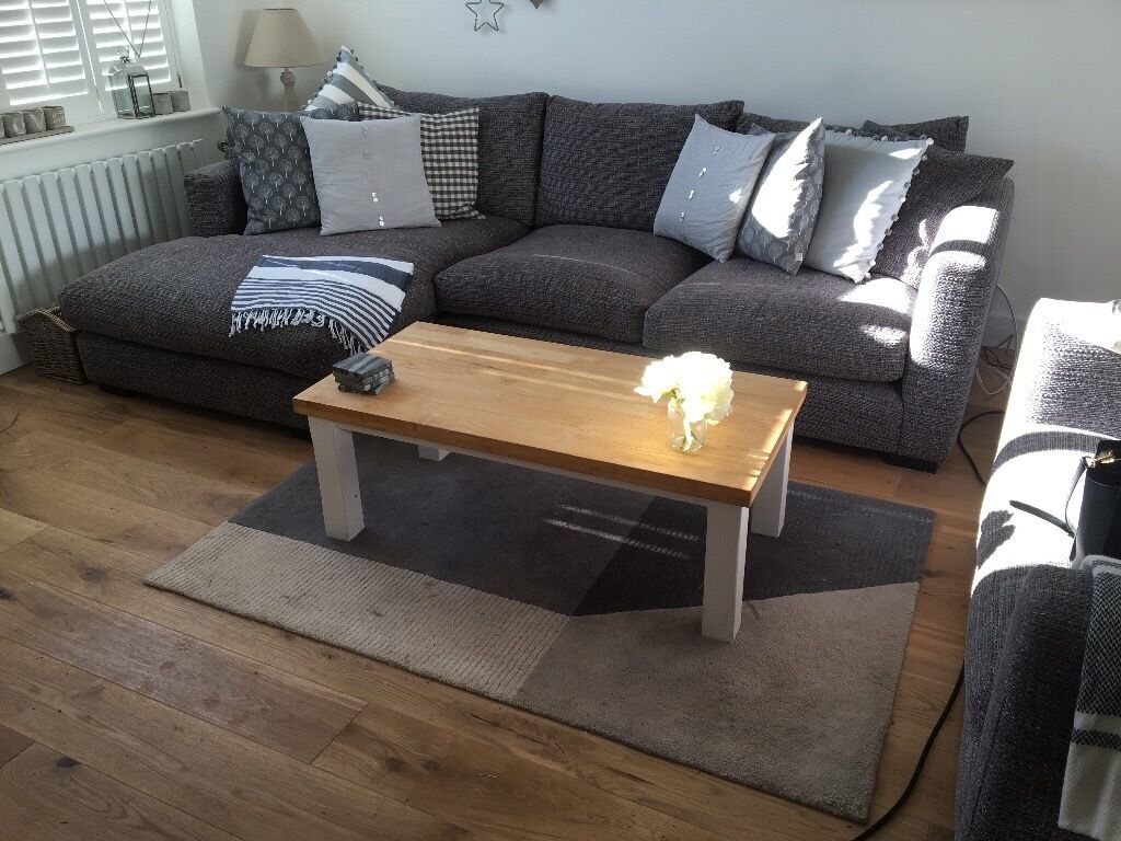 Sofaworks DFS corner sofa and snuggle chair in Teignmouth, Devon Gum