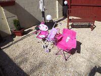 baby chairs and dolls pram
