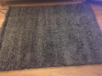 Charcoal grey rug