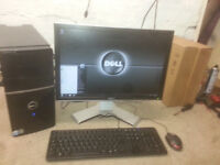 for sale dell computer set up in quad core 640gb hard drive 2 gb ram etc £50