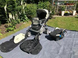 Silver Cross Pram & Car Seat (good condition)