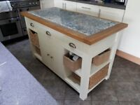 Beautiful Solid wood kitchen Island with granite worktop 18 months old and in excellent condition.