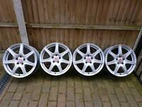 "Genuine Honda civic type r alloys 18"" taken off a 2008 car which I no longer have."