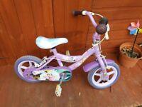 Girls bike 12inch purple