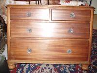 light mahogany chest draws victoriancirca1900s.originalglass handles