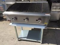 CATERING COMMERCIAL GAS NEW BBQ KEBAB PERI PERI CHICKEN WATER GRILL FAST FOOD RESTAURANT KITCHEN