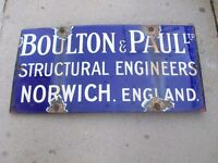 boulton and paul norwich sign
