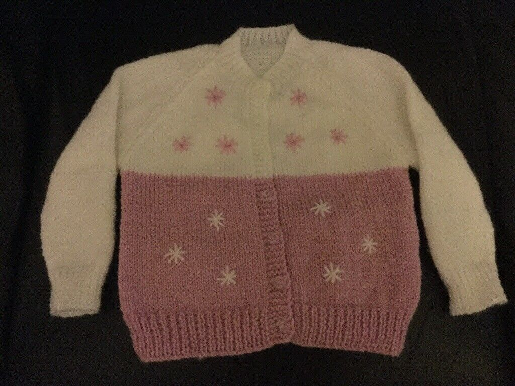 Babies Hand Knitted Cardigan