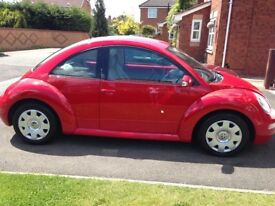 Beetle 05 49500 miles 1.6 Luna Red New Cam Belt, Full History MOT from May