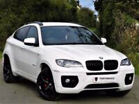 IMMACULATE! (2012) BMW X6 3.0 XDRIVE 35D -360 CAMERA - ALLOYS - FBMWSH - RED LEATHER -NAV -FINANCE