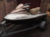Seadoo 3 seater jet ski and trailer