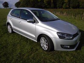 VW POLO 1.6 TDI SEL (90ps) 2010, 5 door, diesel, manual, full service history, in metallic silver