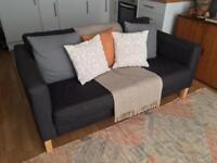 IKEA Karlstad Sofa - charcoal grey 2/3 seater