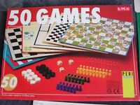 50 BOARD GAMES, DRAUGHTS, SNAKES & LADDERS, LUDO ETC WITH INSTRUCTION BOOKLET AGE 6+