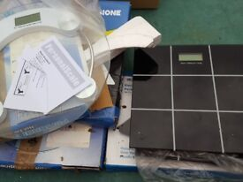 Job lot 6 x Glass Weighing Scales...Brand New ..need batteries
