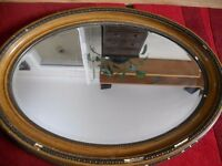 Large Oval Beveled Mirror