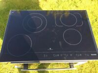 baumatic electric ceramic touch hob phc720ss