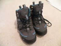Walking Boots (size 4 ) Gelert, charcoal and blue. Worn 3 times.
