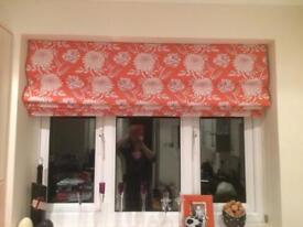 Laura Ashley roman blinds and curtainss