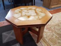 Excellent condition retro G-plan tile top octagonal coffee table