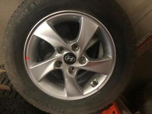 Last set Brand new OEM Hyundai takeoff 15 installed with brand new 19565R15 winter tires