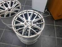 "4 alloys Audi A8 no tyres But little crash on the wheels 20""inch"