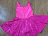 Pink leotard and skirt size 2