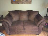Brown Love seat and chair