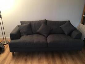 Oak Furniture Land Grey Sofas 2 + 3 Seater