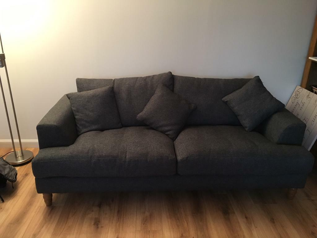 Oak Furniture Land Grey Sofas 23 Seaterin Shotts, North LanarkshireGumtree - Oak Furniture Land Grey Sofas 2 3 Seater RRP £1000. Only 2 years old but swapping for corner sofa bed. Oak legs are all in perfect condition and the 2 seater has literally never been used (small family). Collection only. 6 Cushions included