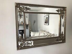 Ornate Silver Mirror