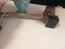 Long handle rubber mallet