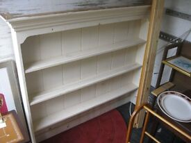 SOLID PINE PAINTED DRESSER TOP. ORNATE. 3 SHELVES. VIEWING/DELIVERY AVAILABLE
