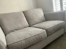 X 2 next grey / silver sofas
