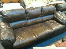 Sofa and armchair leather #29768 £199