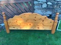 Solid pine headboard (king size)
